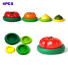 Silicone Food Savers & FREE Silicone Food Wrap, Fruits And Vegetable Huggers,Set of 4,Reusable,Durable And Expandable To Fit Various Sizes And Shapes of Containers